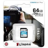 Kingston SDXC Card 64GB Canvas Go! Plus U3 170R 70W 4K