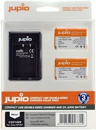 Jupio Kit 2x Battery NP-BX1 + Compact USB Dual Charger CSO1000